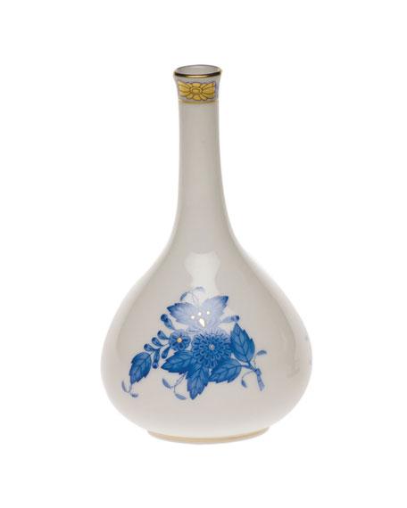 Herend Chinese Bouquet Blue Medium Bud Vase