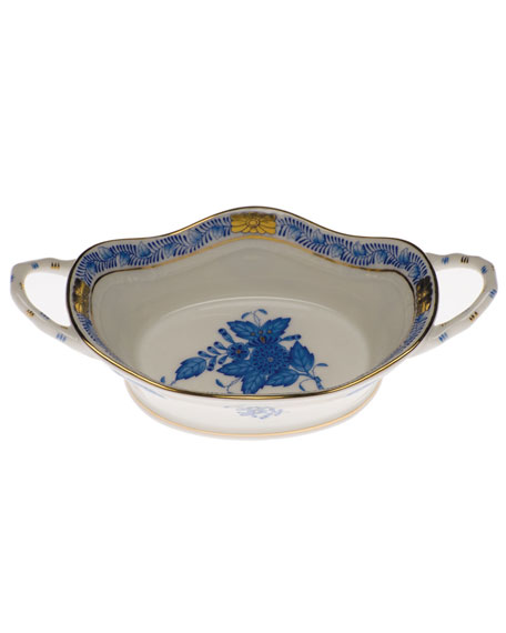 Herend Chinese Bouquet Blue Large Openwork Basket