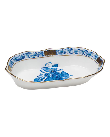 Herend Chinese Bouquet Blue Narrow Pin Dish