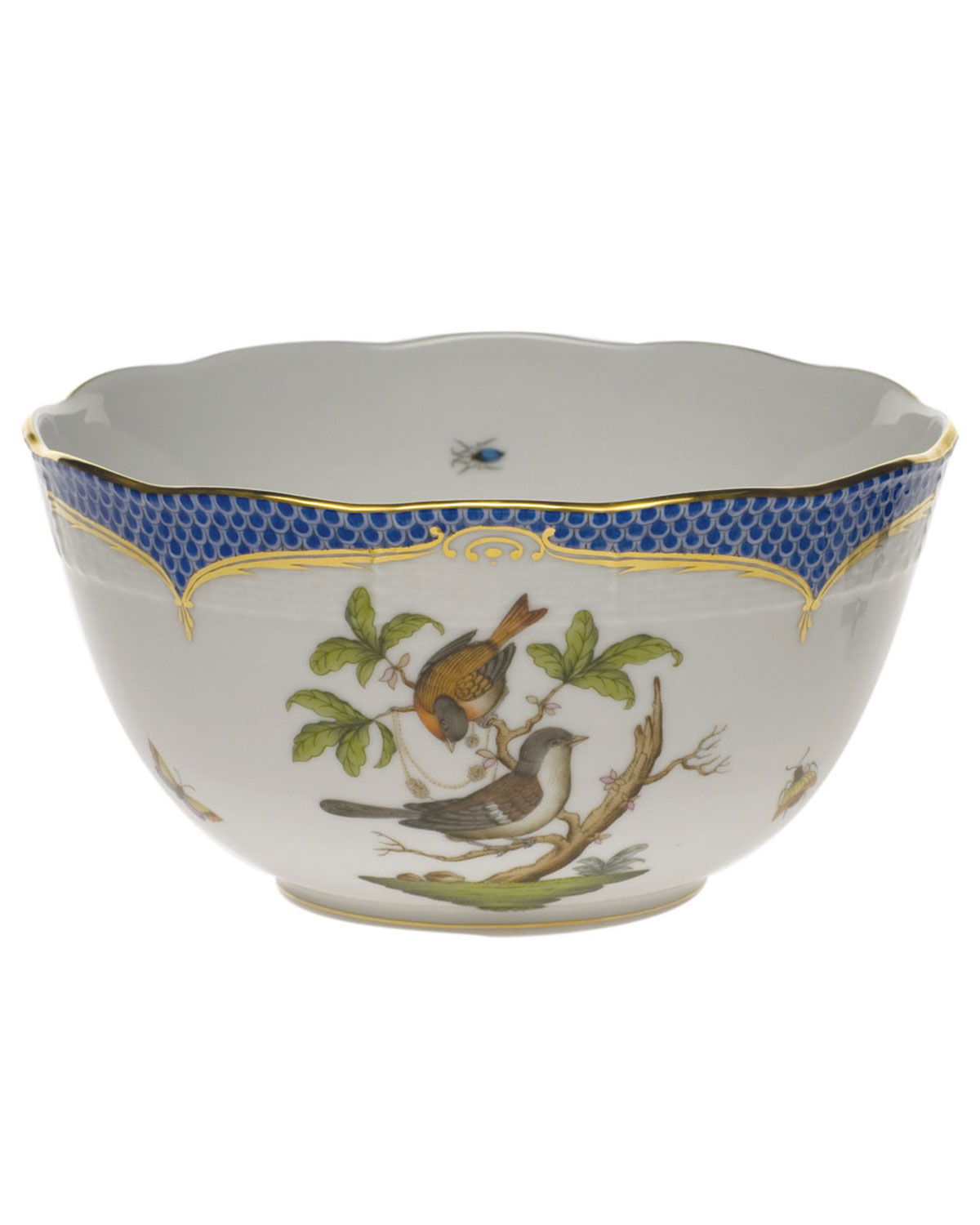 Herend Rothschild Blue Round Bowl