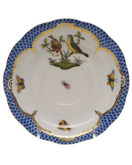Herend Rothschild Blue Motif 07 Tea Saucer