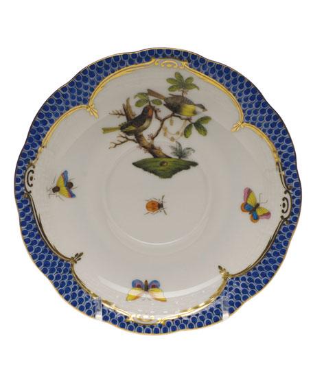 Herend Rothschild Blue Motif 11 Tea Saucer