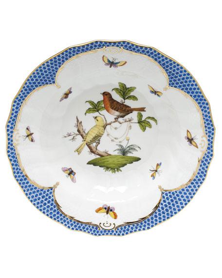 Herend Rothschild Blue Motif 06 Rim Soup Bowl