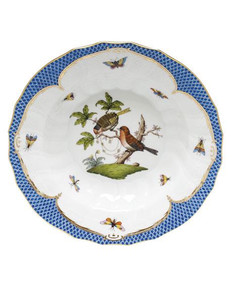 Herend Rothschild Blue Motif 10 Rim Soup Bowl