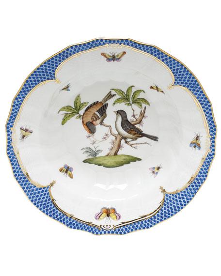 Herend Rothschild Blue Motif 12 Rim Soup Bowl