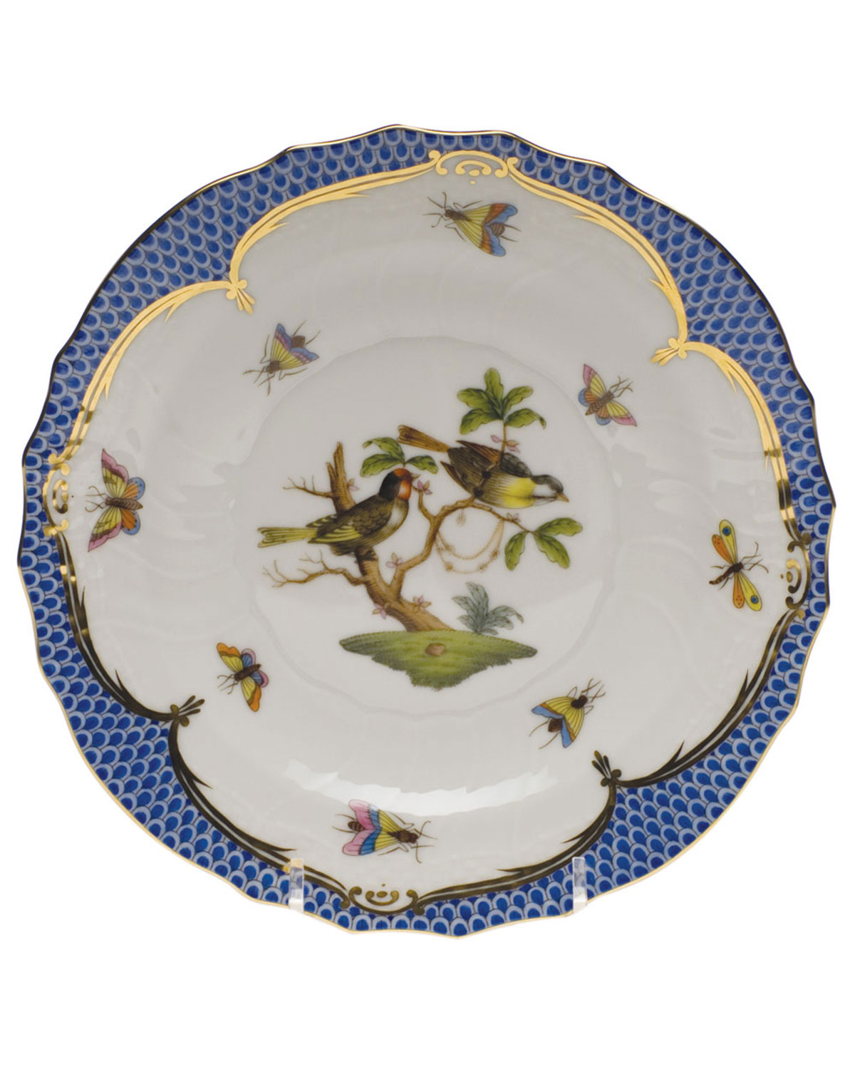 Herend Rothschild Blue Motif 11 Salad Plate