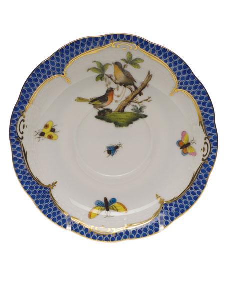Herend Rothschild Blue Motif 08 Tea Saucer