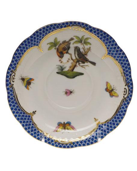 Herend Rothschild Blue Motif 12 Tea Saucer