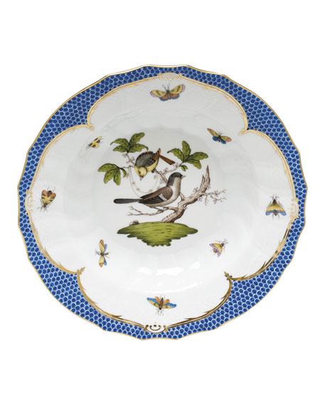 Herend Rothschild Blue Motif 01 Rim Soup Bowl