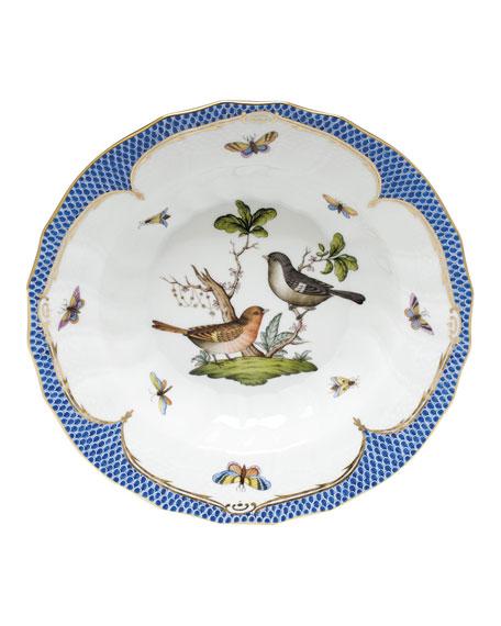 Herend Rothschild Blue Motif 05 Rim Soup Bowl