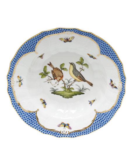 Herend Rothschild Blue Motif 07 Rim Soup Bowl
