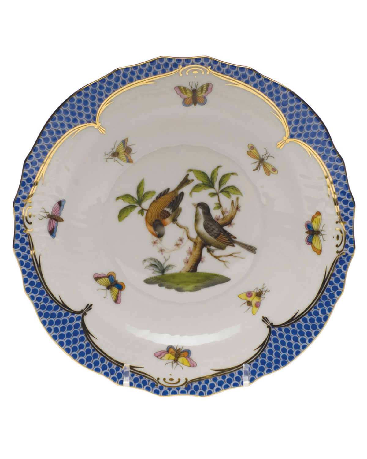 Herend Rothschild Blue Motif 12 Salad Plate
