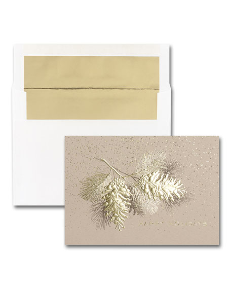 Carlson Craft 25 Rustic Pine Elegance Greeting Cards with Blank Envelopes