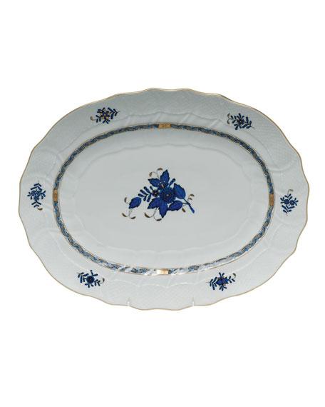 Herend Chinese Bouquet Black Sapphire Platter