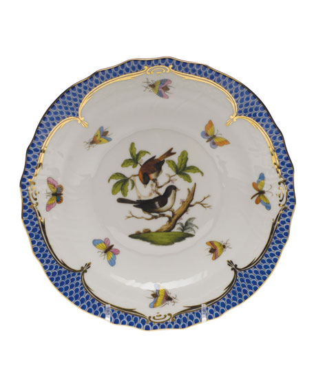Herend Rothschild Bird Blue Motif 4 Salad Plate