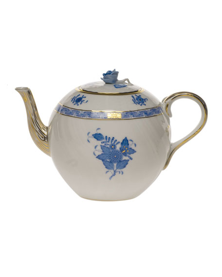 Herend Chinese Bouquet Blue Teapot