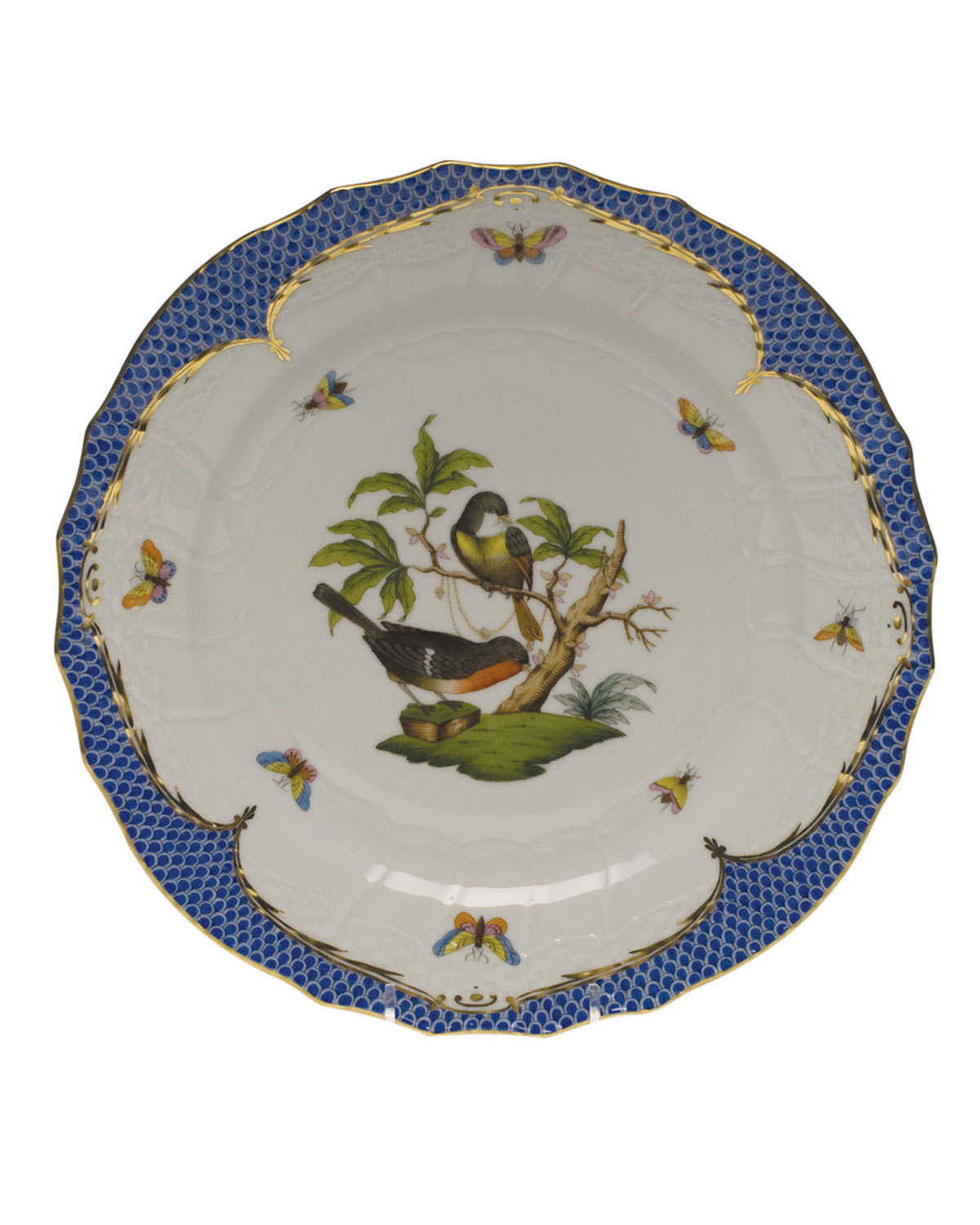 Herend Rothschild Bird Service Plate/Charger 02