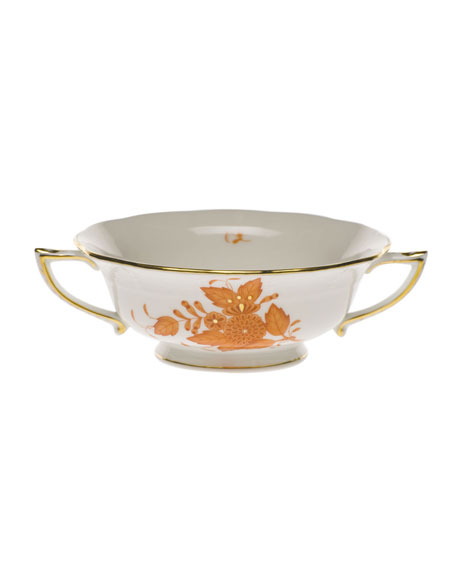 Herend Chinese Boutique Rust Cream Soup Cup