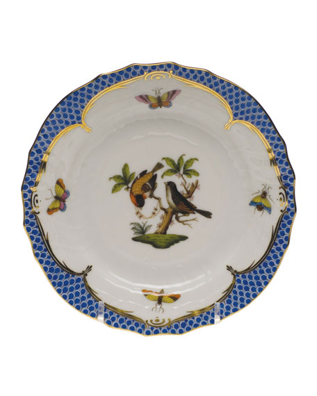 Herend Rothschild Bird Blue Motif 12 Bread & Butter Plate
