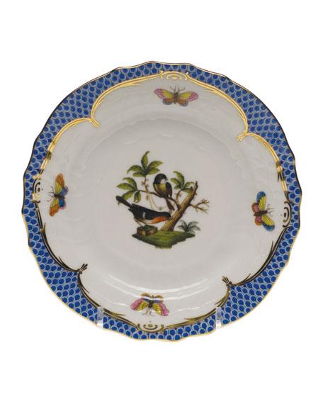 Herend Rothschild Bird Blue Motif 2 Bread & Butter Plate