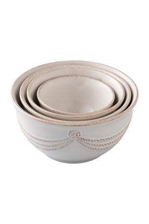 Juliska Berry & Thread Whitewash Nesting Prep Bowls, Set of 4