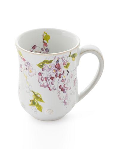 Berry & Thread Floral Sketch Wysteria Mug