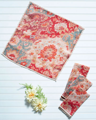 Magic Carpet Linen Napkins  Set of 4