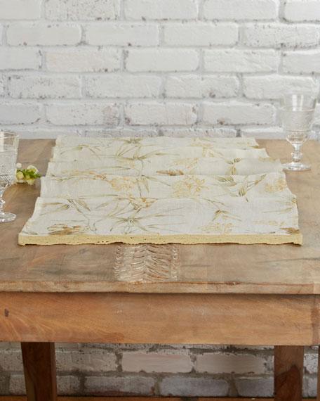 April Cornell Bamboo Garden Linen Table Runner