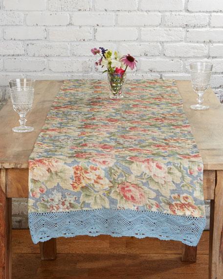 April Cornell Cotillion Linen Table Runner