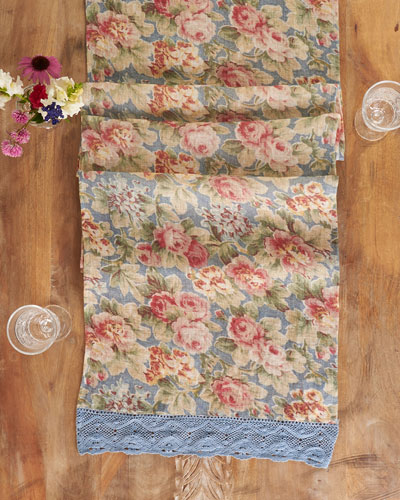 Cotillion Linen Table Runner