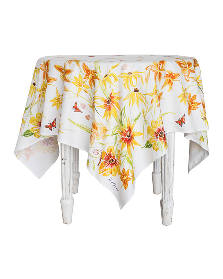 April Cornell Black-Eyed Susan Watercolor Dining Tablecloth