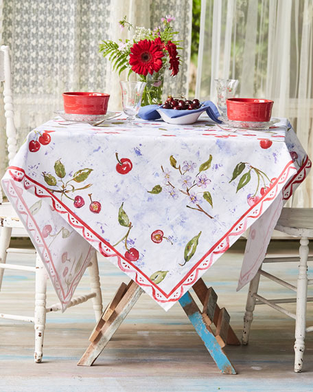April Cornell Cherries Watercolor Dining Tablecloth