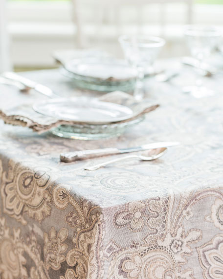 April Cornell Queen's Court Linen Dining Tablecloth