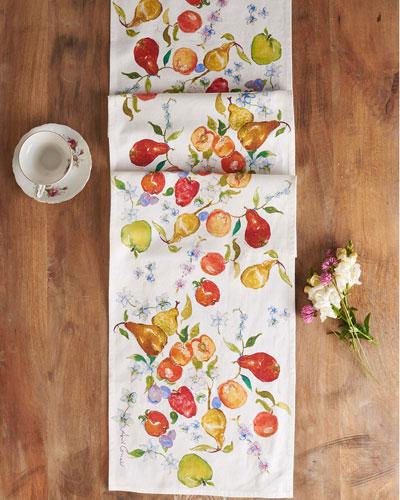 Fresh Fruit Watercolor Table Runner