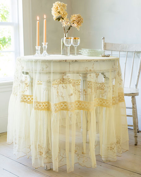 April Cornell Beloved Embroidered Dining Tablecloth