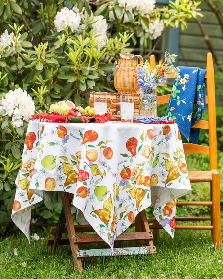 April Cornell Fresh Fruit Watercolor Breakfast Tablecloth