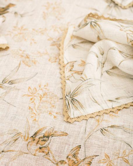 April Cornell Bamboo Garden Linen Breakfast Tablecloth