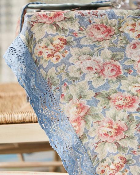 April Cornell Cotillion Linen Breakfast Tablecloth