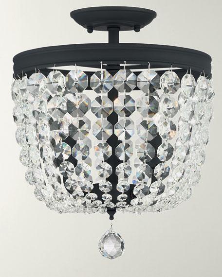 Crystorama Archer 3-Light Crystal Black Pendant
