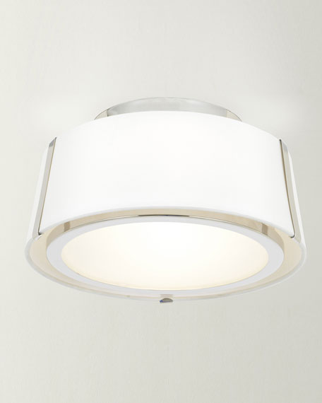 Crystorama Fulton 2-Light Polished Nickel Ceiling Mount Light
