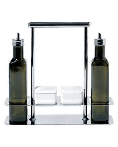 Branzi Olive Oil Bottle Set with Caddy