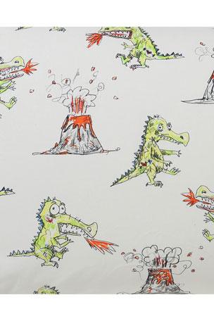Kip&Co Kids' Dino Roar Fitted Sheet - Twin