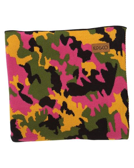 Kip&Co Camo Pink Cotton Blanket - Large