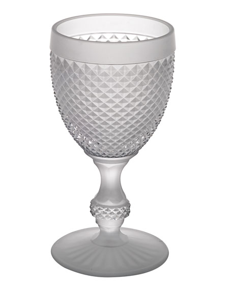 Vista Alegre Bicos Frosted Water Glasses, Set of 4
