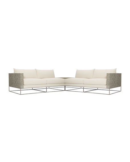 Image 2 of 3: Bernhardt Brooklyn 3 Piece Sectional