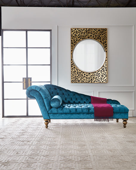 Image 2 of 5: Old Hickory Tannery Stacey Tufted Chaise