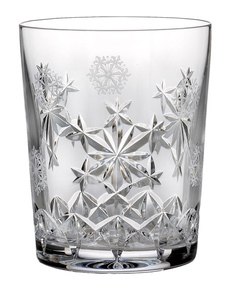 Waterford Crystal Snowflake Wishes Goodwill Double Old-Fashioned Glass