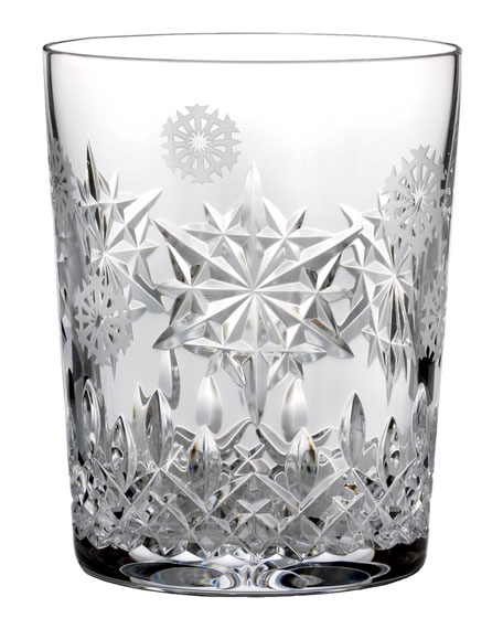 Waterford Crystal Snowflake Wishes Joy Double Old-Fashioned Glass