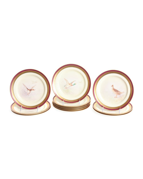 Devonia Antiques Antique Game Bird Plates, Set of 12