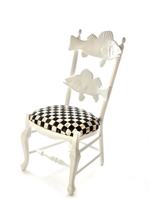MacKenzie-Childs Outdoor Courtly Check Fish Chair